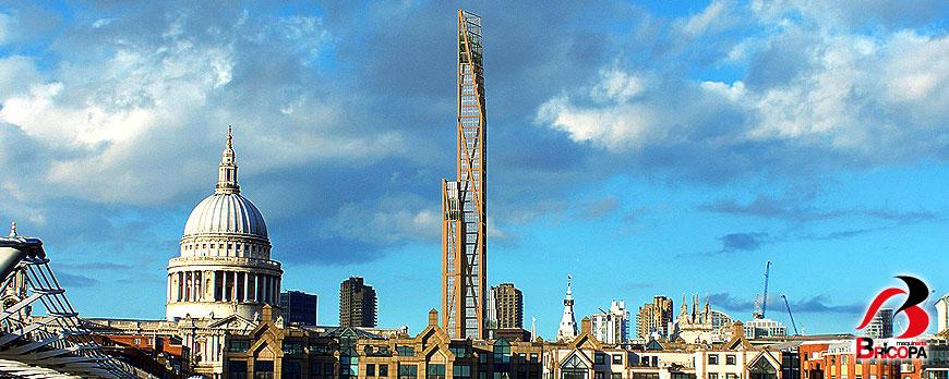 El Rascacielos de Madera más Alto del Mundo en Londres